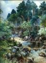 Йордан Гешев - Планински пейзаж с река