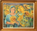 Cvetana Kosturkova - A girl with sunflowers